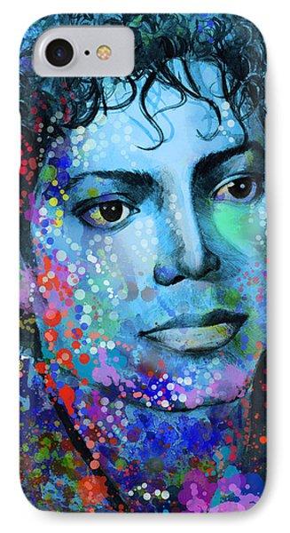Michael Jackson 14 IPhone Case by Bekim Art