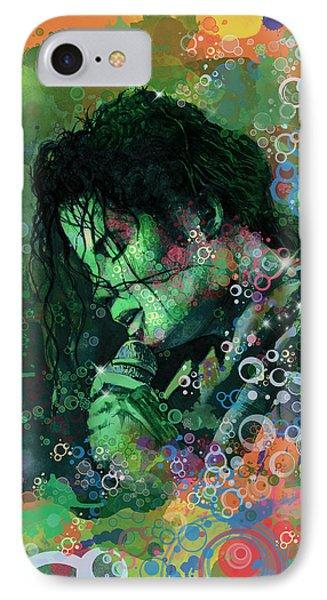 Michael Jackson 15 IPhone Case by Bekim Art