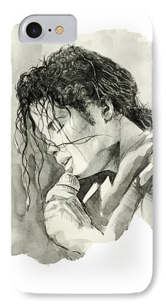 Michael Jackson 3 IPhone Case by Bekim Art