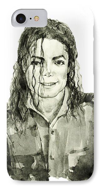 Michael Jackson 4 IPhone Case by Bekim Art