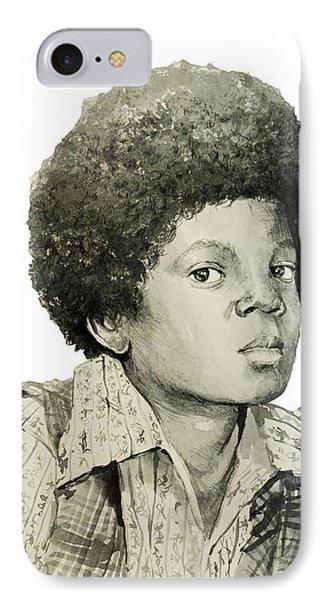 Michael Jackson 5 IPhone Case by Bekim Art