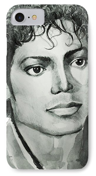 Michael Jackson 7 IPhone Case by Bekim Art