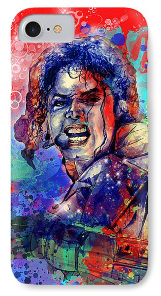 Michael Jackson 8 IPhone Case by Bekim Art