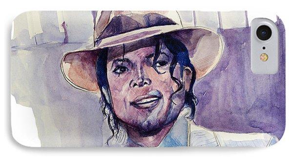 Michael Jackson 9 IPhone Case by Bekim Art