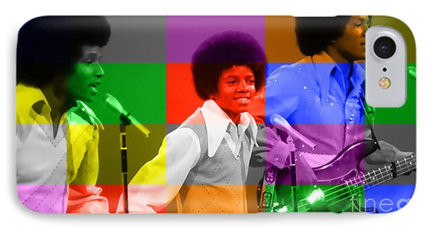 Michael Jackson And The Jackson 5 IPhone Case by Marvin Blaine