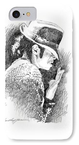 Michael Jackson Hat IPhone Case by David Lloyd Glover