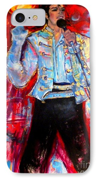 Michael Jackson I'll Be There IPhone Case by Helena Bebirian