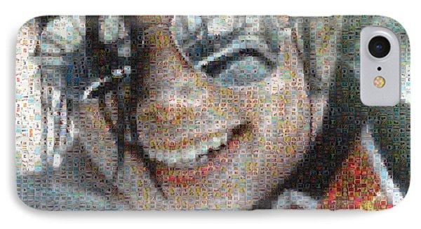 Michael Jackson - Mosaic Phone Case by Paulette B Wright