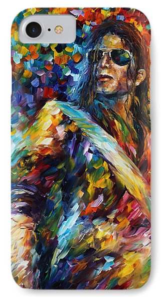 Michael Jackson - Palette Knife Oil Painting On Canvas By Leonid Afremov IPhone Case