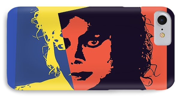 Michael Jackson Pop Art IPhone Case by Dan Sproul