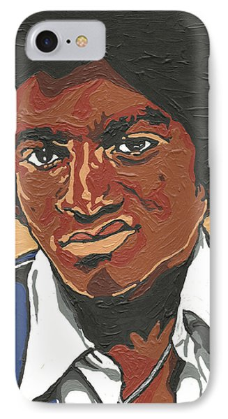 IPhone Case featuring the painting Michael Jackson by Rachel Natalie Rawlins