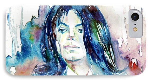 Michael Jackson - Watercolor Portrait.10 IPhone Case