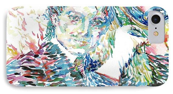 Michael Jackson - Watercolor Portrait.3 IPhone Case
