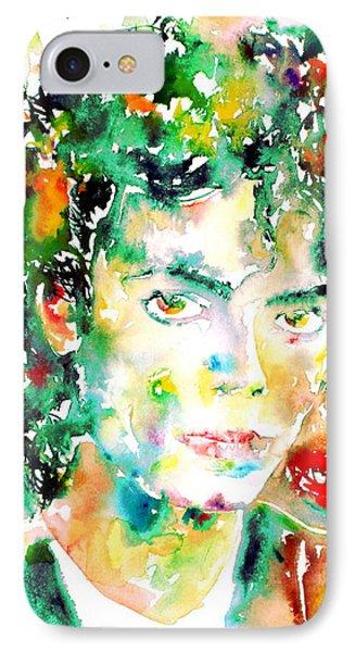 Michael Jackson - Watercolor Portrait.4 IPhone Case