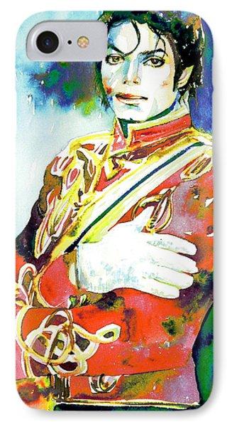 Michael Jackson - Watercolor Portrait.5 IPhone Case