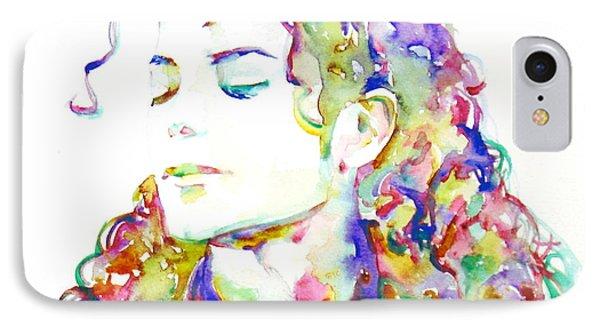 Michael Jackson - Watercolor Portrait.6 IPhone Case
