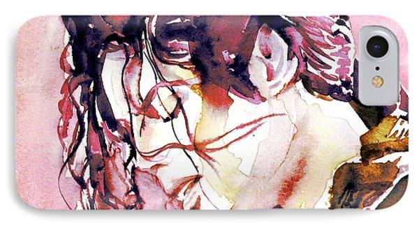 Michael Jackson - Watercolor Portrait.7 IPhone Case