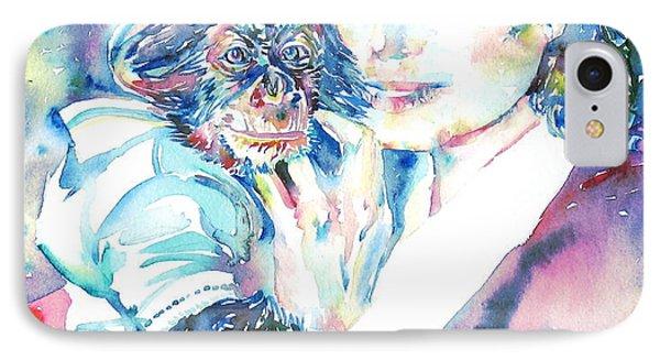Michael Jackson - Watercolor Portrait.9 IPhone Case