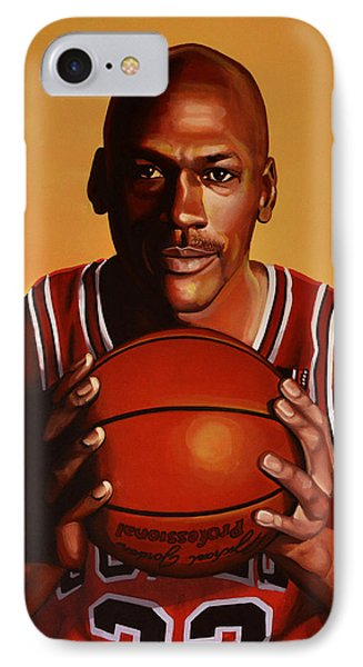 Michael Jordan 2 IPhone Case by Paul Meijering