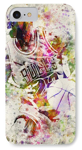 Michael Jordan IPhone Case by Aged Pixel