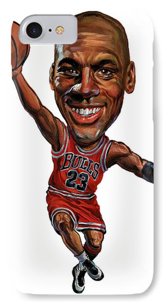 Michael Jordan Phone Case by Art