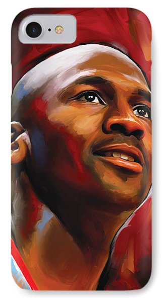 Michael Jordan Artwork 2 IPhone Case by Sheraz A