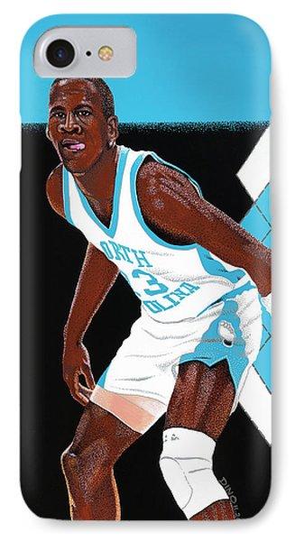 Michael Jordan Carolina Blues IPhone Case
