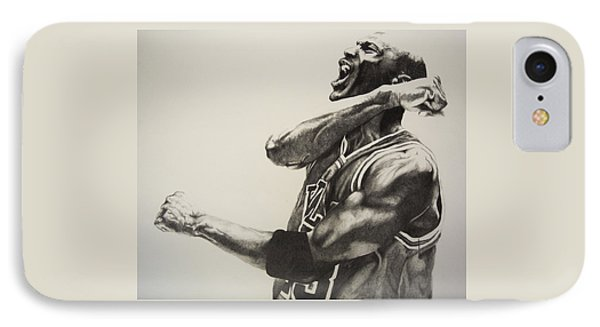 Michael Jordan IPhone Case by Jake Stapleton