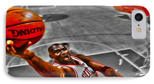 Michael Jordan Lift Off II IPhone Case by Brian Reaves