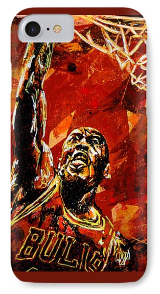 Michael Jordan Phone Case by Maria Arango