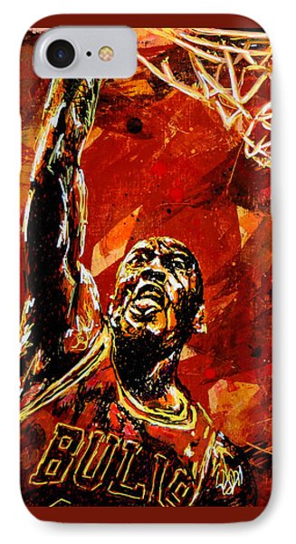 Wizard iPhone 7 Case - Michael Jordan by Maria Arango