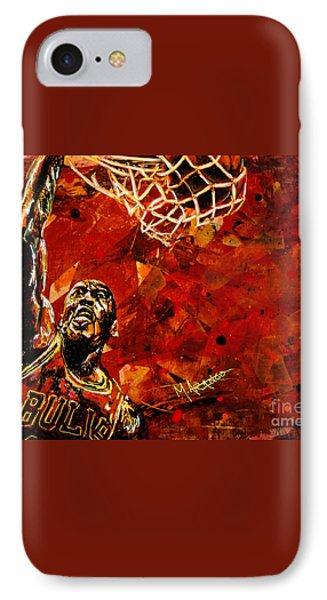 Michael Jordan IPhone 7 Case by Maria Arango