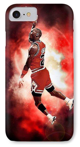 Michael Jordan Phone Case by NIcholas Grunas Cassidy