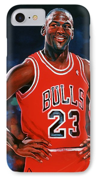 Wizard iPhone 7 Case - Michael Jordan by Paul Meijering