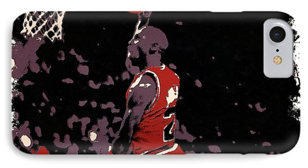 Michael Jordan Poster Art Dunk IPhone Case by Florian Rodarte