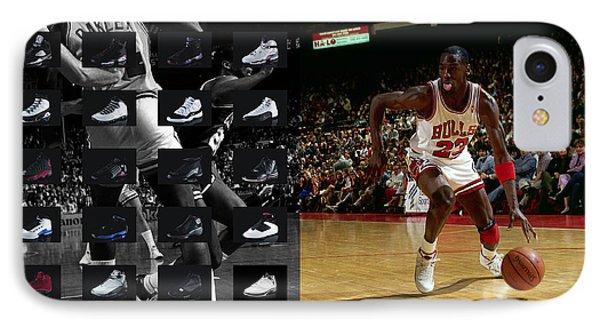 Michael Jordan Shoes IPhone 7 Case by Joe Hamilton