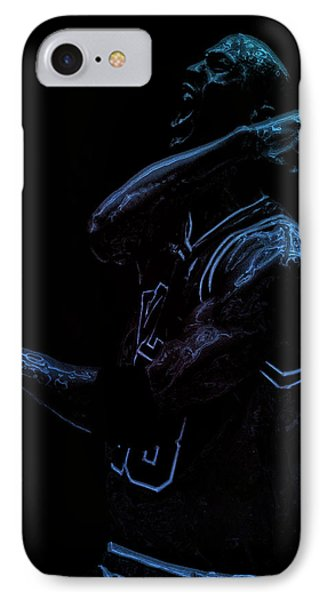 Michael Jordan Victory IPhone Case by Brian Reaves