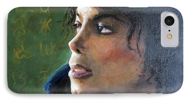 IPhone Case featuring the painting Michael Joseph Jackson by Jieming Wang