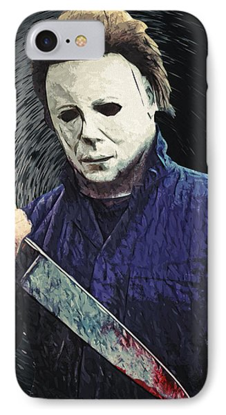 Michael Myers  IPhone Case by Taylan Apukovska