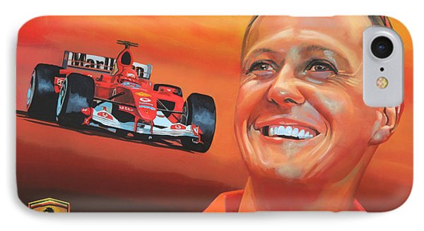 Michael Schumacher 2 IPhone Case by Paul Meijering