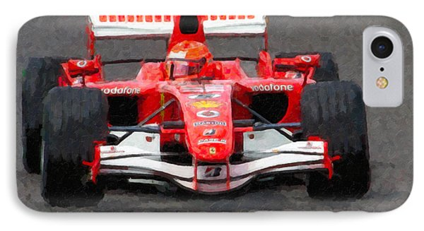 Michael Schumacher Canadian Grand Prix II IPhone Case by Clarence Holmes
