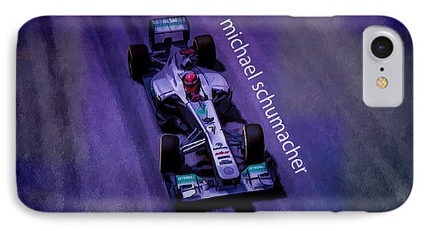 Michael Schumacher IPhone Case by Marvin Spates