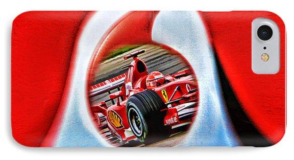 Michael Schumacher Though The Logo Phone Case by Blake Richards