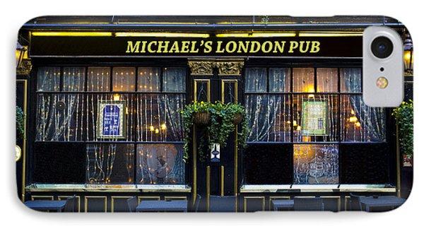 Michael's London Pub Phone Case by David Pyatt