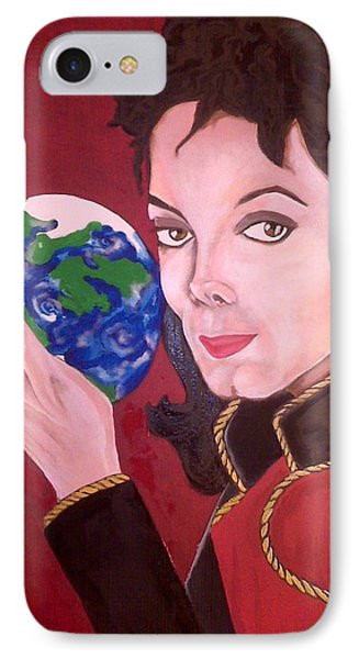 Michael's World Phone Case by Lorinda Fore