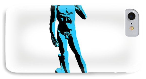 Michelangelos David - Stencil Style Phone Case by Pixel Chimp