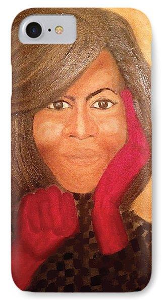 Michelle Obama Phone Case by Ginnie McKnight