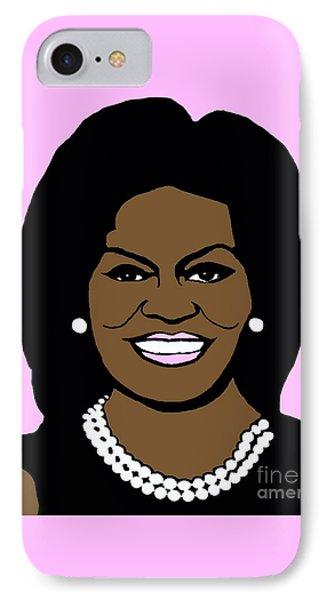 Michelle Obama Phone Case by Jost Houk