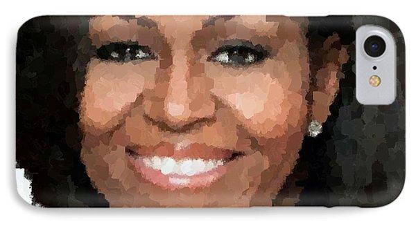 Michelle Obama IPhone Case by Samuel Majcen