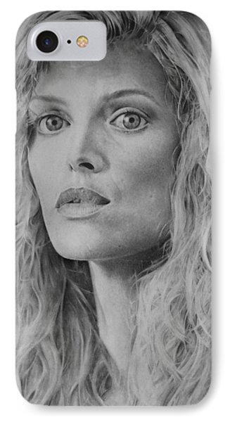 Michelle Pfeiffer IPhone Case by Damir Kulusic